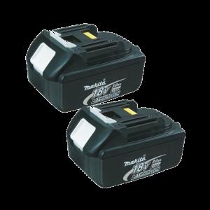 Makita BL1830X2-pakket van twee BL1830 18v 3.0ah Li-Ion batterijen
