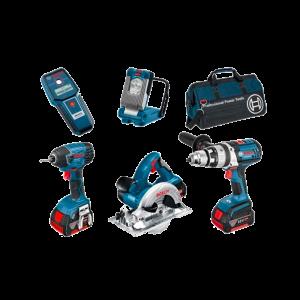 Bosch 0615990G8L 5 delige 18V Li-Ion accu combi set (3x 4.0Ah accu) in tas Bag+5RS