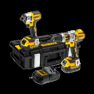 Dewalt DCK255M2 Brushless Twin Pack 18 Volt 2 X 4.0Ah Li-Ion Batteries
