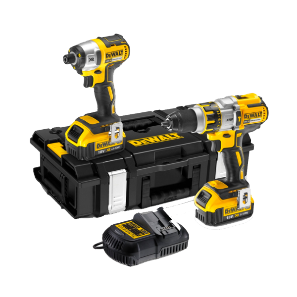 Dewalt DCK255M2 Brushless Twin Pack 18 Volt 2 X 4.0Ah Li-Ion Batteries