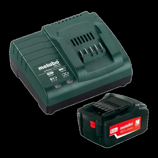 Metabo 18V 5.2ah Li-ion Batterij + ASC30 14,4V-18V Lader